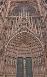 Central  portal of Strasbourg Cathedral (1439) Royalty Free Stock Images