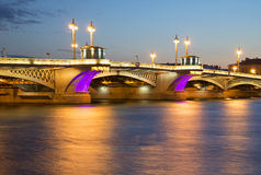 The Central portion of the Annunciation bridge, the white night. Saint-Petersburg Stock Images