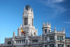 Central Post Office, Madrid. Royalty Free Stock Image