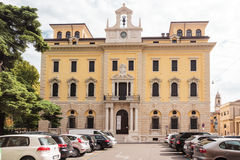 Central post office on Piazza Francesco Viviani square in Verona Royalty Free Stock Images