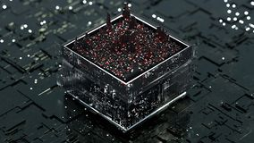 Central processing unit is analyszing data 3D rendering illustration royalty free stock photos