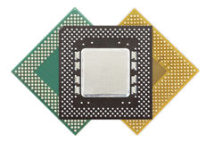 Central processing unit or Computer chip Royalty Free Stock Photos
