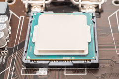 Central Processing Unit (CPU) Chip Stock Image