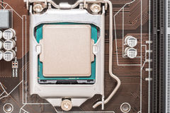Central Processing Unit (CPU) Chip Stock Photography