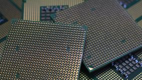 Central Processing Unit CPU, Close Up 4K Video. Close Up of Central Processing Unit CPU, Close Up 4K Video stock video footage