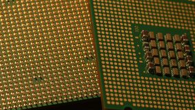 Central Processing Unit CPU, Close Up 4K Video stock footage