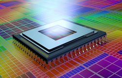 Central processing unit, cpu Royalty Free Stock Images