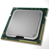 Central processing unit CPU. 3d rendering. Graphic illustration. 3d render CPU. Digital illustration Stock Image