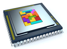 Central processing unit, cpu Royalty Free Stock Image