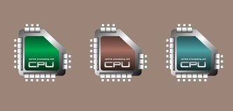 Central processing unit set Royalty Free Stock Photography