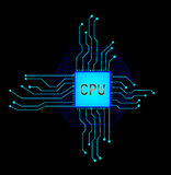 Central processor. Royalty Free Stock Photography