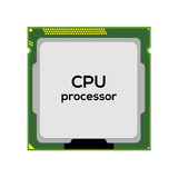 Central processor unit Stock Image