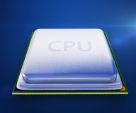 Central processor unit on mainboard Stock Photos