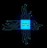 Central processor Vektorillustration för EPS 10 Arkivfoton