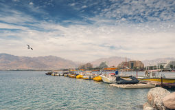 Central public beach in Eilat Royalty Free Stock Photography