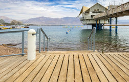 Central public beach in Eilat Royalty Free Stock Photo