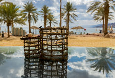 Central public beach in Eilat Stock Photography