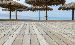 Central public beach in Eilat Stock Images