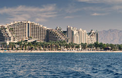 Central public beach  in Eilat Stock Photo
