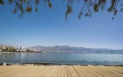 Central public beach in Eilat, Israel Stock Photos