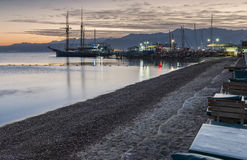 Central public beach and marina in Eilat Royalty Free Stock Images