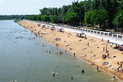 Central Public City Beach At Belovka Royalty Free Stock Photos