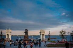 The central quay of Volgograd Royalty Free Stock Photos