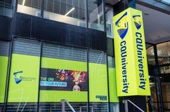 Central Queensland universitetsområde i centrala Brisbane, Australien Royaltyfria Bilder