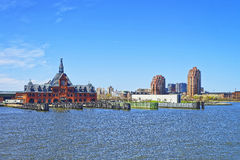 Central Railroad of New Jersey Terminal on Hudson Waterfront Stock Photos