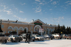 Central railroad station of Abakan Stock Photography