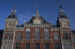 Central railway station in Amsterdam Royalty Free Stock Photos
