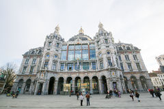 Central Railway Station in Antwerp, Belgium Royalty Free Stock Image