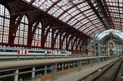 Central railway station, Antwerpen Royalty Free Stock Image
