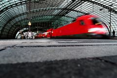 Central railway station in Berlin, Stock Photo