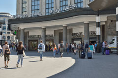 Central railway station in Brussels stock photography