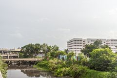 Central railway station,Chennai,India,August 25 2017: View of famous landmarks like southern railway building stock photos