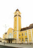 The central railway station of the city Burgas in Bulgaria Stock Images