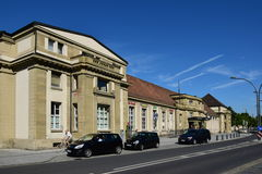 Central railway station in Coburg, Germany Stock Image