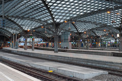 Central railway station in Cologne Stock Image