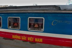 Central railway station Hanoi - canteen wagon Royalty Free Stock Images