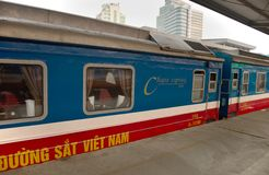 Central railway station Hanoi - canteen wagon Royalty Free Stock Photo