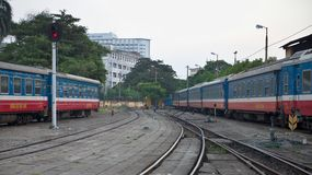 Central railway station Hanoi Stock Photo