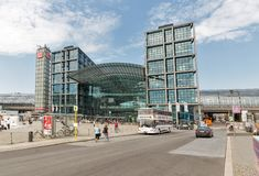 Central Railway Station or Hauptbahnhof in Berlin, Germany. royalty free stock image