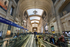 Central Railway Station of Milan Royalty Free Stock Photos