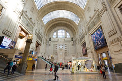 Central Railway Station of Milan Stock Photos
