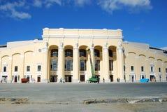central rekonstruktionstadion yekaterinburg royaltyfria foton