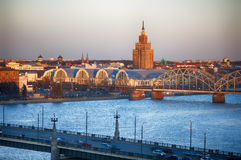 Central Riga stock photo