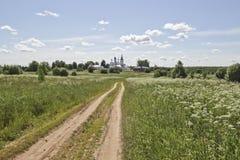 Central Ryssland by av Godenovo Kyrka av St John Chrysostom Fotografering för Bildbyråer