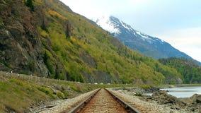 Central sammansättning, järnväg Molnig dag för sommar lager videofilmer