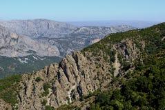 Central Sardinia. Supramonte Landscape. Dorgali Supramonte.Typical landscape of central-eastern Sardinia Stock Photography